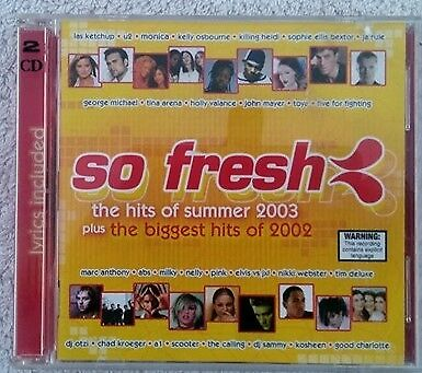 So Fresh the Hits of Summer 2003 + Best of 2002 double cd compilation