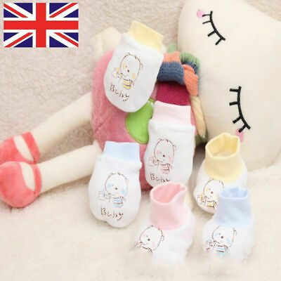1 Pair New Soft Newborn Infant Anti Scratch Baby Gloves Cotton Mittens for Baby