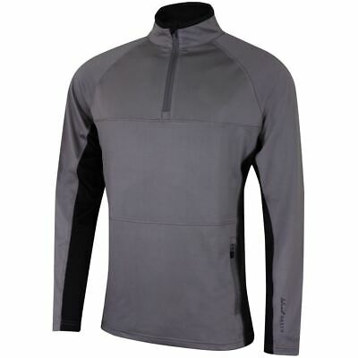 Island Green Golf Mens Zip Contrast Windproof Thermal Quick Dry Mid Layer Top