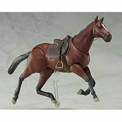 """PVC 1/12th figma 246a Chestnut Brown Horse Animal Scene For 6"""" Figures Doll body"""
