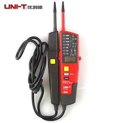 Uni-t UT18C Voltage Continuity Tester 2 Pole LCD LED Indication  IP65 Date Hold