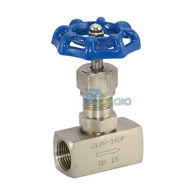 "DN15 1/2"" High Pressure Needle Valve Thread Female Stainless Steel SS 304 BSPT"