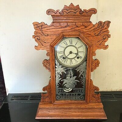 Superb Antique late Victorian American   Mantle  clock, working