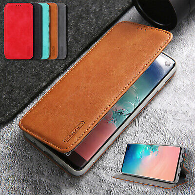 For Samsung Galaxy S10 5G S10 Plus Case Magnetic Leather Flip Wallet Stand Cover