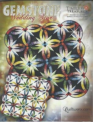 Gemstone Wedding Star New Colorway Paper Piecing Pattern by Judy Niemeyer