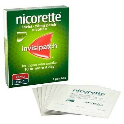 3 Boxes Of Nicorette Step 1 25mg Nicotine Quit Smoking Clear Invisipatch Patches