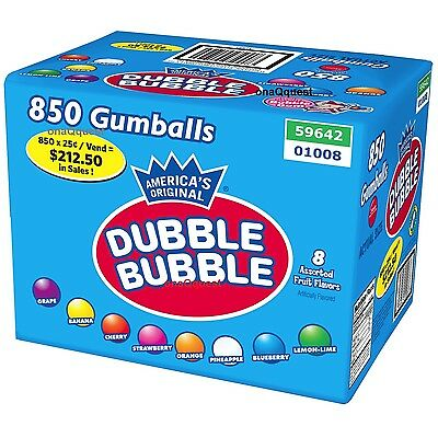 "Dubble Bulle 850 Gumballs Distributeur Bonbon 1 "" Nom Assortd Fruit Vrac Double"