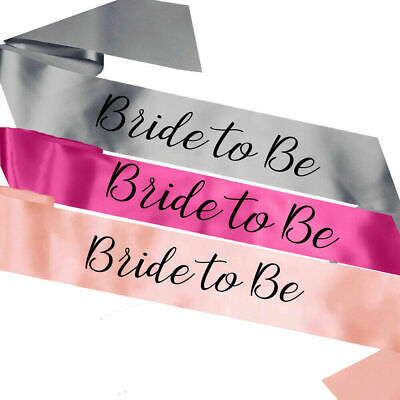 New Luxury Classy Bride to Be Sash Hen Party Sashes Do Night Decorations Favours