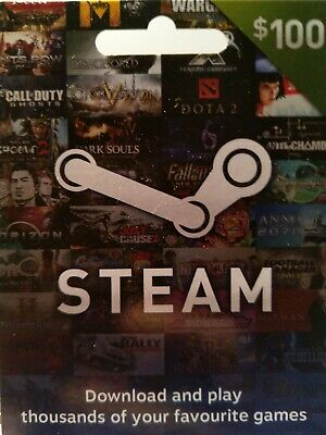 Steam Gift Card (Australian) $100each
