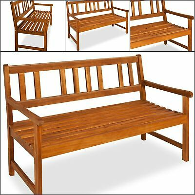 Wooden Garden Bench Solid Acacia Hardwood Stylish High Quality Outdoor 3 Seater