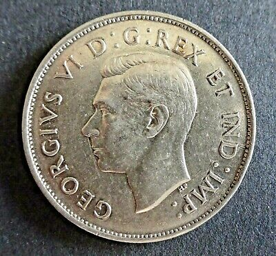 1943 Canadian Fifty Cent Coin EF40