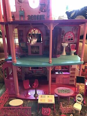 2004 Mattel Barbie 3 Story Dream House & Elevator 360 Degree Play W/ Misc Extras