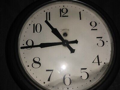 Smiths SecElectric Wall Clock Bakelite very early example patent numbers to rear