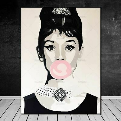 Canvas Painting Wall Art Picture Home Decor Print Audrey Hepburn No Frame Poster
