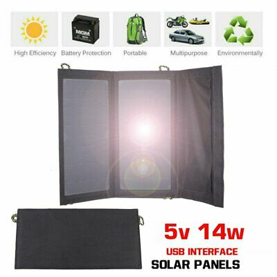 14w 5V Solar Charging Panel Charger USB for Mobile Smart Phone iPhone Samsung