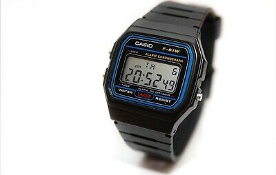 Classic Casio Unisex Digital Alarm Wrist Watch For Kids & Adults F91-W