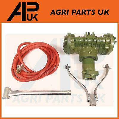 Tractor PTO Air Compressor Twin Cylinder with hose / pipe For field or on site