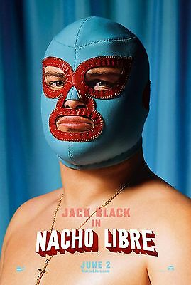 Nacho Libre (2006) Original Advance B Movie Poster  -  Rolled  -  Double-Sided