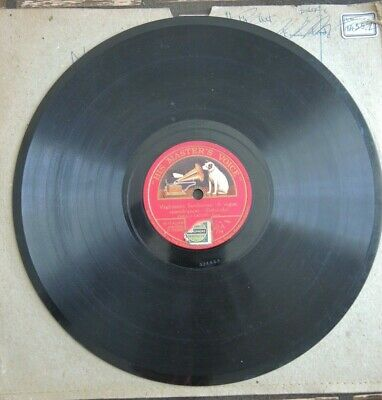 """""""His Masters Voice"""" 10 inch double sided disc featuring Enrico Caruso"""