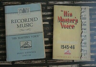 Record catalogues by HMV 1943-44 and 1945-46