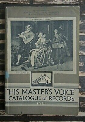"""His Masters Voice"" Catalogue of Records from 1934"