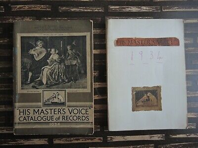 """His Masters Voice"" Catalogue of Records for 1934 x 2"