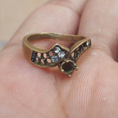 Rare Ancient Antique Bronze solid  RING museum quality ARTIFACT -unique