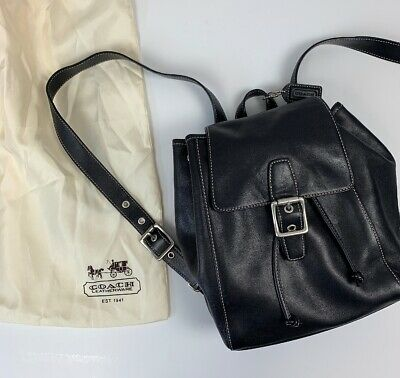 1bd7197c0e564 Coach Backpack Bag Legacy Leather Purse Vintage Drawstring With Dust Bag