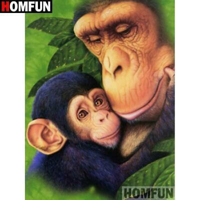 5D Daimond Painting Mother and Baby Ape Kit