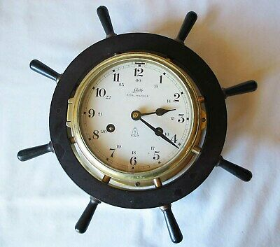Vintage Schatz Royal Mariner 8-Day Ships Clock, Ship's Bells, German Made