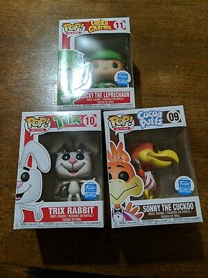 Funko Pop! Ad Icons: Sonny the Cuckoo Trix Rabbit Lucky w/3 Soft Pop Protectors