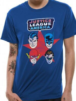 Justice League Of America, Faces T-Shirt, Officially Licensed , Unisex