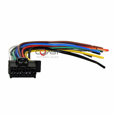 car radio 22-pin wire harness for 2017-up kenwood jvc stereos ken-