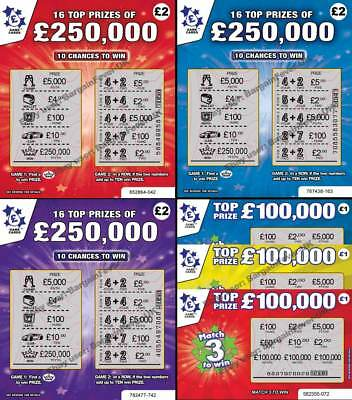 6 x Fake Joke Lottery Scratch Cards -World's Most Realistic- BEST ON EBAY