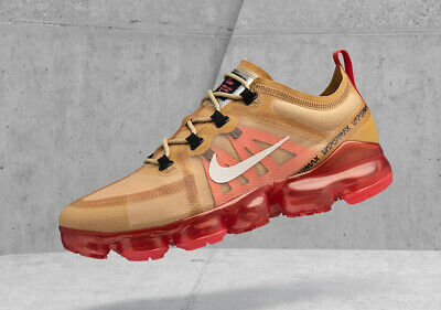 NEW Nike Air Vapormax 2019 Men's Running Club Gold Ember Glow Ironman AR6631-701