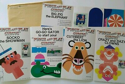 Vintage Punch & Play Circus Kimberly Clark Kleenex Advertising Paper Toys Dolls