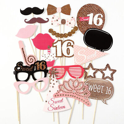 20pcs Accesorios Photocalls party Photo Booth Props  Fiesta Cumpleaño Sweet 16