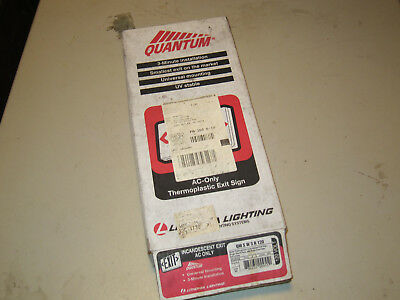 Lithonia Quantum Exit Sign Incandescent AC Only, Free shipping!