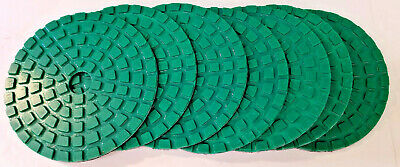 """5"""" Resin Diamond Discs, 7 Pieces, 50 Grit, Hook & Loop Backing, 3/4"""" Center Hole"""