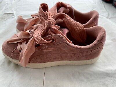 quality design c391d 6174b WOMENS PUMA SUEDE HEART VR Rose Trainers 365111 04 Size 9 Women's