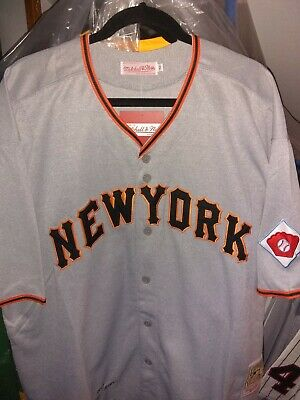 489f685b WILLIE MAYS MITCHELL & Ness New York Giants Jersey Cooperstown ...