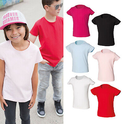 SF Mini Junior Kids Crew Neck Stretch T-shirt SM101 - Children Casual Wear Top