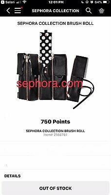 SEPHORA COLLECTION~ Professional Brush Roll Ltd Edition New in Sealed Package