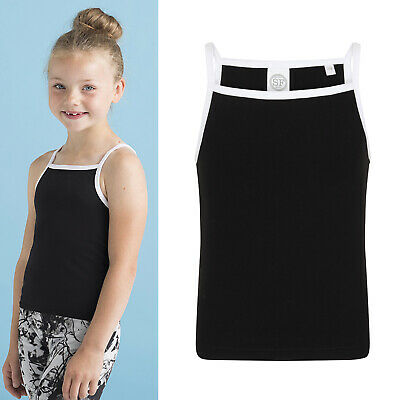 SF Mini Kids Feel Good Stretch Strappy Vest SM127 - Girls Halter Neck Tank Top