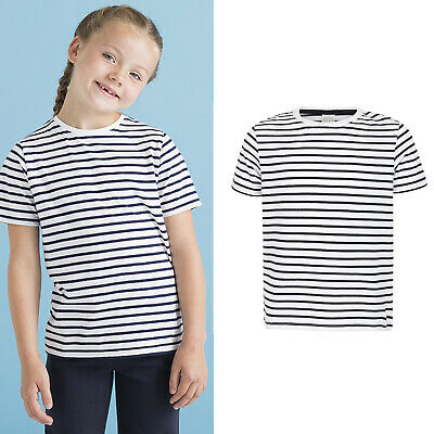 SF Mini Kids Striped Tee Top SM202 -Children Short Sleeve Cotton Unisex T-Shirt