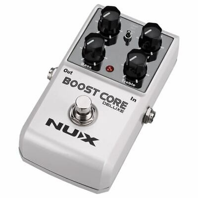 5X(NUX Booster Core Deluxe Guitar Effects Pedal Guitarra Booster Stompbox B 9G3)