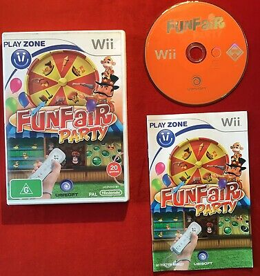 Fun Fair Party Game for Nintendo Wii / Wii U PAL complete in box with manual!