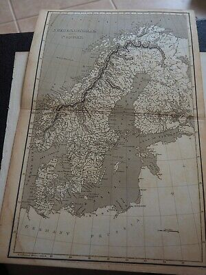 "Antique Map ""Sweden, Denmark and Norway"" Arrowsmith"