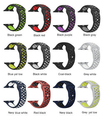 Nike Sports Silicone Bracelet Strap Band For Apple Watch iWatch 38/40/42/44mm