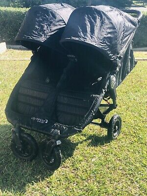 Baby Jogger City Mini Gt Double Black Pram Stroller Brisbane Qld